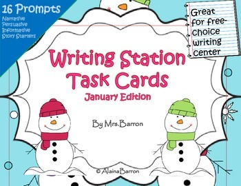 January Writing Task Cards