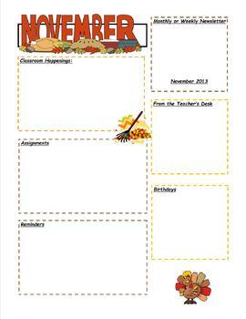November and December Newsletter