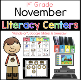 November literacy menu First Grade