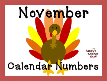 November (turkey) Calendar title and numbers