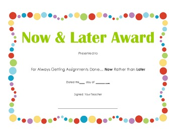 End of Year Candy Bar Award (single)