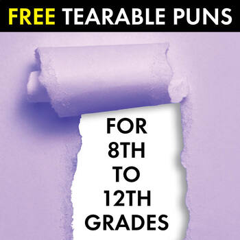 Now, That's Punny! FREE Tearable Pun Sheets to Amuse with