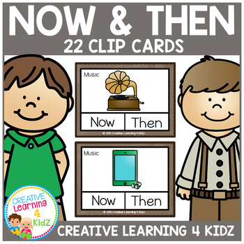 Now & Then / Past  & Present Clip Cards Thanksgiving