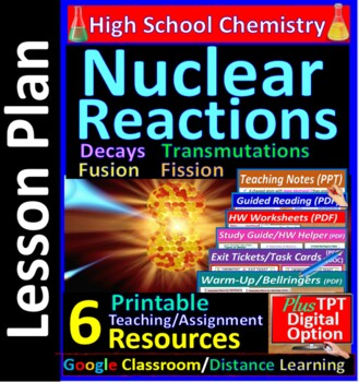 Nuclear Decay & Transmutation  - Worksheets & Practice Que
