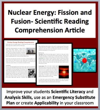 Nuclear Energy: Fission and Fusion - A Science Reading Com