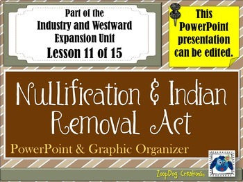 Nullification Act - Indian Removal Act PowerPoint and Grap