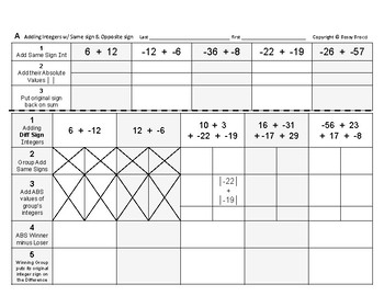 Num & Ops 10: Adding and Subtracting Integers