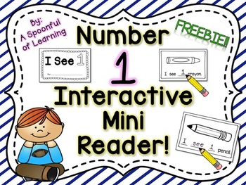 Number One Interactive Mini Reader- FREEBIE!