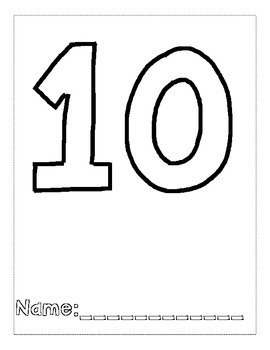 Number 10 Color and Trace Number Book