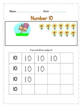 Number 10 Practice Worksheets