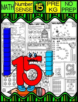 Number 15 Math Worksheets-NO PREP (PRE-KG EDITION)-Countin