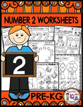 Number 2 Math Worksheets-NO PREP (PRE-KG EDITION)- Countin