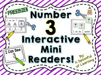 Number Three Interactive Mini Readers- FREEBIE!!