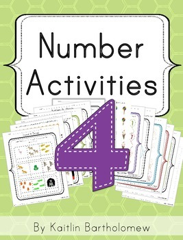 Number 4 Activities- 39 Pages! {Common Core}