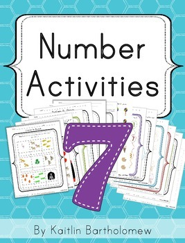 Number 7 Activities- 41 Pages! {Common Core}