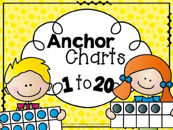 Anchor Charts for Numbers to 20 (Number Recognition; Numbe