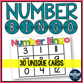 Number Bingo for 0-20 {Class Set}