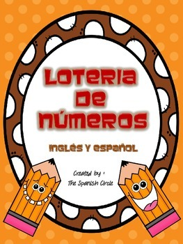 Number Bingo to 100/ Loteria de numeros al 100 English and