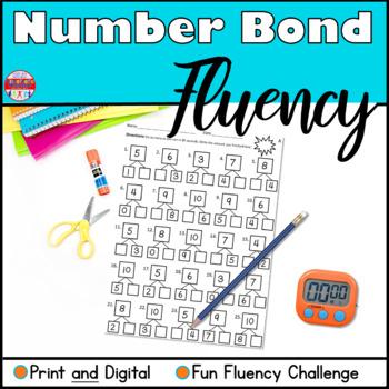 Number Bond Fluency Worksheets - Addition