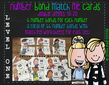 Number Bond Match Me Cards #10-20 (Level One)