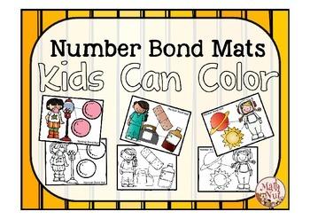 Number Bond Practice: Mats Kids Can Color