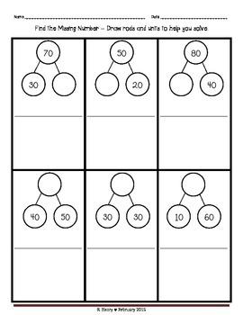 Number Bond Missing Numbers-Double Digit NBT 3.5_3.6