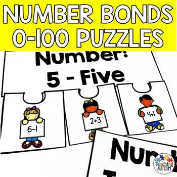 Number Bond Puzzles 0-100