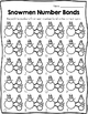 Number Bond Task Cards Winter Snowmen