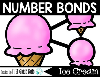 Number Bond Task Cards Summer Ice Cream