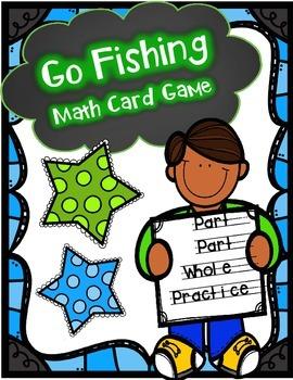 "Number Sense Math Center -Number Bonds ""Go Fishing"" Card Game"
