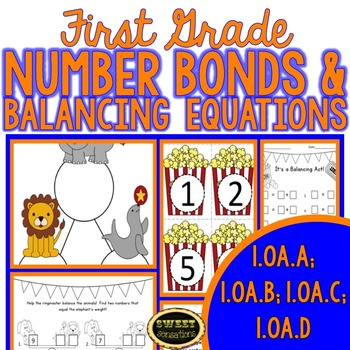 First Grade Number Bonds and Balancing Equations (OA.A1-D8)