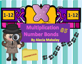 Number Bonds Multiplication Style (Find the product) Numbers 1-12