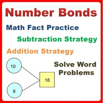 Number Bonds Worksheets Bundle Math fact Practice, Problem