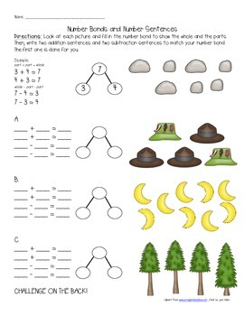 Number Bonds and Number Sentences (Fact Families)