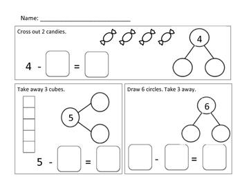 Number Bonds and Number Sentences Subtraction