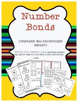 Number Bonds Worksheets and More