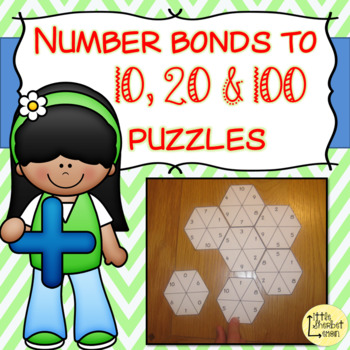 Number Bonds to 10, 20 & 100 puzzles BUNDLE