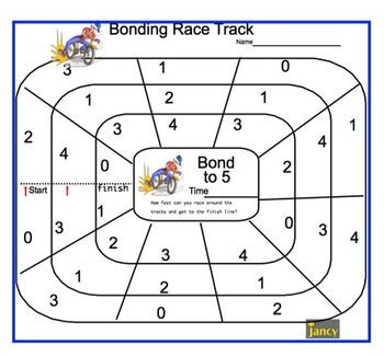 Number Bonds to 5 Race Track or Choose your operation.