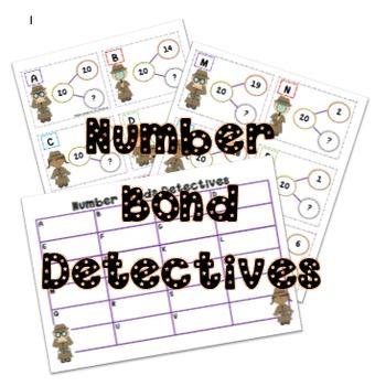 Number Bonds to 20 Treasure Hunt Dectectives