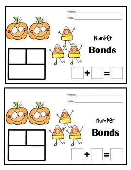Number Bonds with Part Part Whole  / Autumn