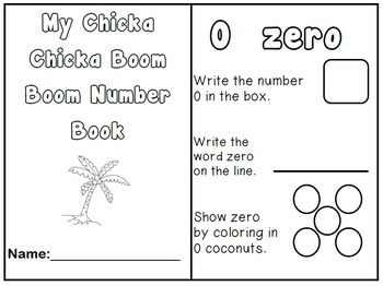 Number Book 0-5 Chicka Chicka Boom Boom DIFFERENTIATED Int