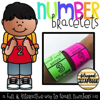 Number Bracelets {Numbers 1-10}