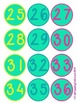 Number Bubbles 1-36 Teal Classroom Management