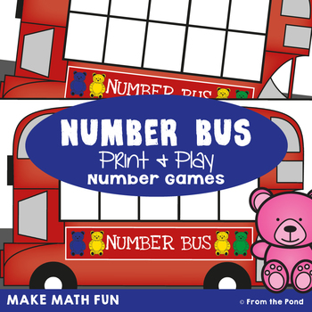Number Bus - Math Center Game for Early Addition