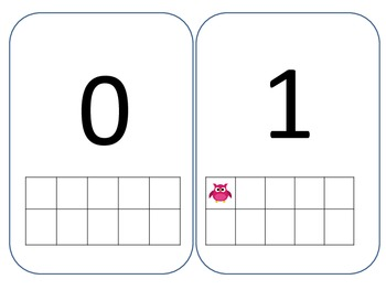 Number Cards 1-10 owl theme