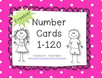Number Cards 1-120 Freebie