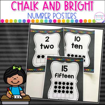 Number Cards 0-20  Numbers,Number Words,Ten Frames-Chalkbo