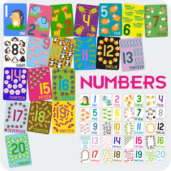 Number Cards 1 to 20 (A5)