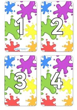 Number Cards- Color 0-100