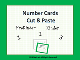 Number Cards Cut and Paste